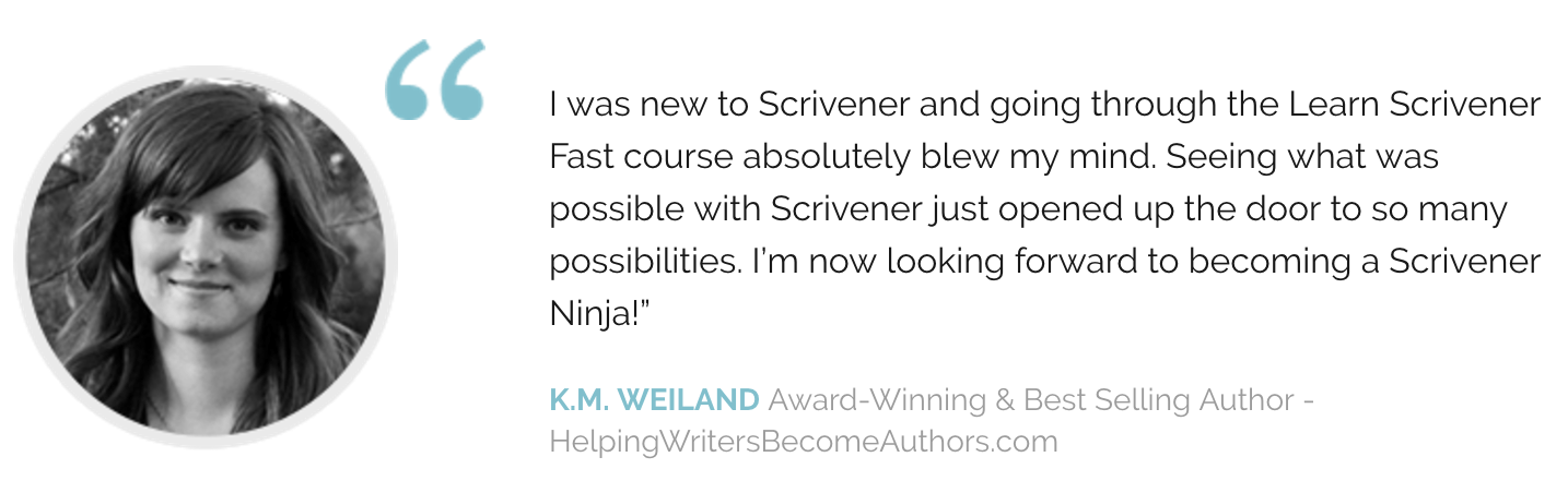 Let Scrivener actually improve your productivity!